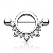 Piercing Pezón - Cristales Medio Círculo