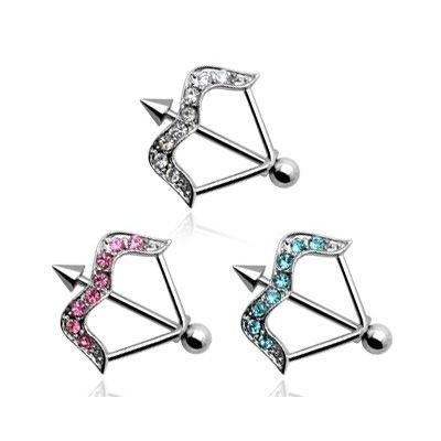 Piercing Pezón - Arco con gemas