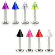 Piercing Micro Labret - Puntas UV transparentes
