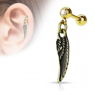 Stud Cartílago / Tragus - Angel