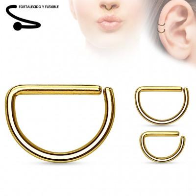 Piercing Septum - D01 Titanio - Oro