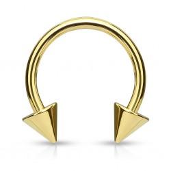 Piercing Herradura - Puntas - PVD oro