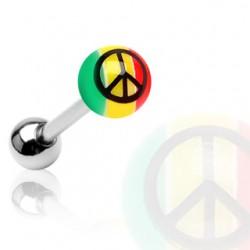 Piercing Lengua - Rasta & Peace