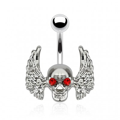 Piercing Ombligo - Angel Skull