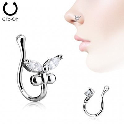 Clip de nariz - Mariposa Strass 01