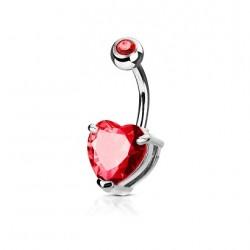 Piercing Ombligo - Corazon Cristal