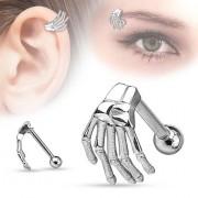 Piercing Ceja - Mano de Esqueleto