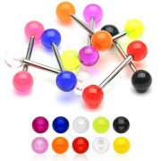 Piercing Barbell - Bolas Unicolor