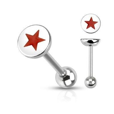 Piercing Lengua - Estrella Roja